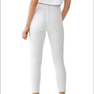 DL1961 White Skinny Ankle High Waisted Jeans 25